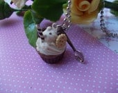 reserved,,lovely necklace, chocolate cupcake