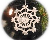 Crochet snowflakes Hand crocheted Christmas snowflake ornaments White hanging ornaments Home decorations Winter wonderland