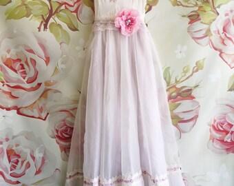 white & lilac organza knife pleat boho wedding dress by mermaid miss Kristin