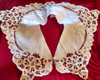 Embroidered  Cutwork Collar