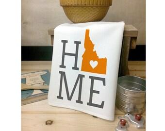 Idaho State Flour Sack Towel, Idaho State Tea Towel, Flour Sack Tea Towel, House Warming Gift, Wedding Gift, Kitchen Decor, State Art