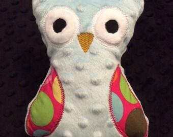 Blue Minky Owl, CLEARANCE SALE