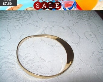 SALE 60% Off vintage DVF goldtone bangle bracelet, vintage bracelet