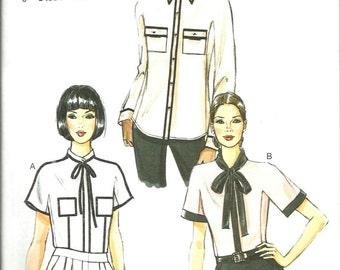 Vogue 8855 new uncut size 6 - 14 womans blouse