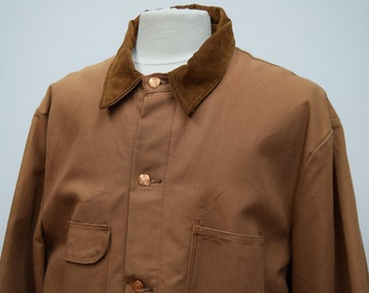 Padded Worker Jacket with Corduroy Collar