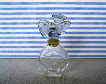 GUERLAIN PARURE Mini Perfume Bottle w Sculpture Stopper Vintage Collectible Miniature Perfume Bottle