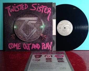 TWISTED SISTER Come Out And Play Vinyl Record Album LP 1985 Die Cut With Insert Hard Rock Music Hair Metal Near Mint Condition Vintage