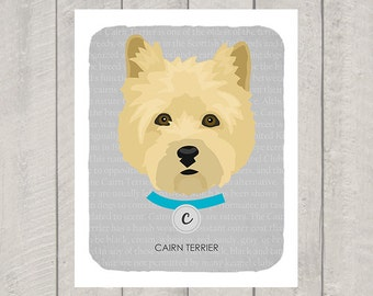 Cairn Terrier - Dog Nursery Art Print - Custom