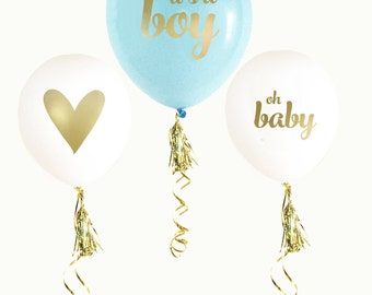 It's A Boy Baby Shower, Baby Shower Balloons, Boy Baby Shower, Gender Reveal Balloons,