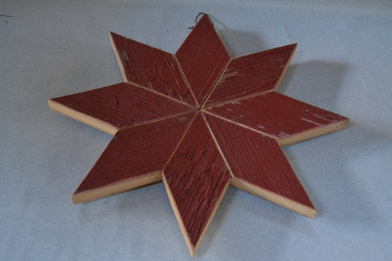 Red Star Wall Decor : Barn wood star wall hanging farmhouse decor red by vintageabcs