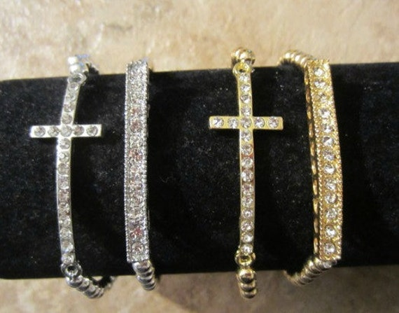 Cross Bracelet Set. Cross. Cross Jewelry. Cross Bracelet. Silver Cross.