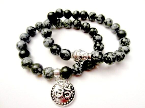 Mala Bracelet Set. Stacked Bracelets. Buddha by XenJewelry ...