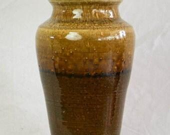 Vintage Pottery Ombre Glazed Vase Planter Decor