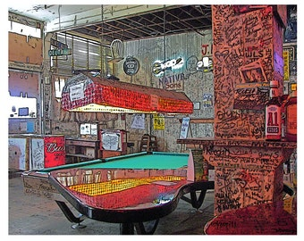 MS Delta Art, Delta Blues Club, Pool Table Art, Graffiti Art, Ground Zero Club, Clarksdale MS, Inside Ground Zero, Wall Graffiti, KORPITA