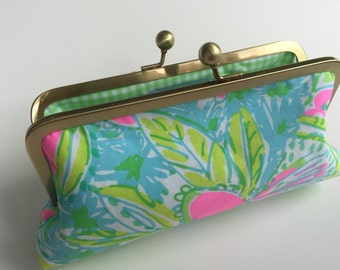 Lilly Pulitzer Coconut Jungle Fabric Clutch