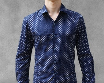 Polka-dot shirt - Navy - BAÏSAP