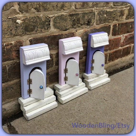 Fairy door fairy door that opens wall tree fairy garden for Fairy door for wall