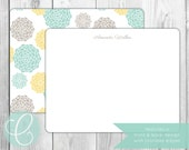 2-Sided Flat Note Cards - Dahlias - Set of 20