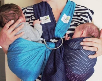 Pre Order - 2016 - TWIN with ME Ring Sling - Twin child carrier - Ring Sling - Sport Mesh fabric -Ring Sling -