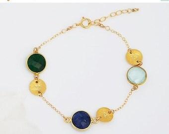 PRESIDENTS DAY SALE Personalized birthstone bracelet, gift mom bracelet, gift sister, custom family bracelet, Mothers jewelry, Grandma jewel
