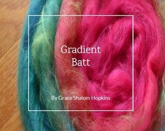 Gradient Batt - Spinning Batt Tutorial - Handspun Yarn Tutorial