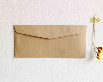 25 Kraft Envelopes Blank Envelope / Long Size