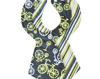 Bicycle Stripe Baby Necktie Bibs (Set of 2)