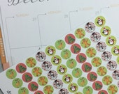 "1/2"" Christmas Dot Stickers - Planner Stickers, inkWELL Press, Erin Condren, Kikki K, Traveler's Notebook"