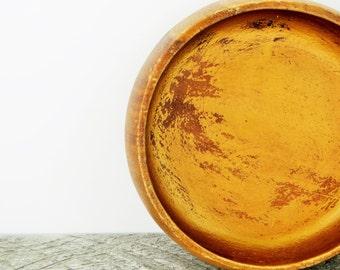 Rustic Modern Storage Bowl - Copper Woodgrain - Modern Metallic Decor