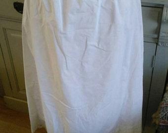 Edwardian cotton petticoat.  Costume/re-enactment. Theatre.