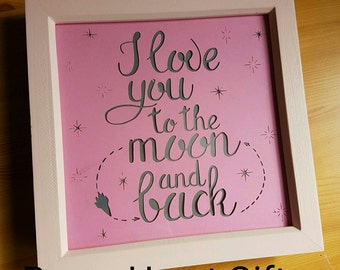 Items Similar To Picture Frame I Love You To The Moon