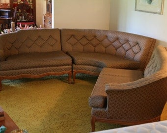 French Provincial Mid Century Sofa Set