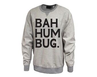 Bah Hum Bug Inside Out Crew Sweatshirt Christmas Holiday Shirt