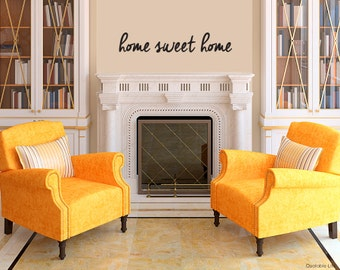Home Sweet Home // Housewarming Gift // Vinyl Wall Decal Sticker