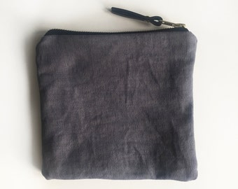 001//black//hand-dyed canvas pouch