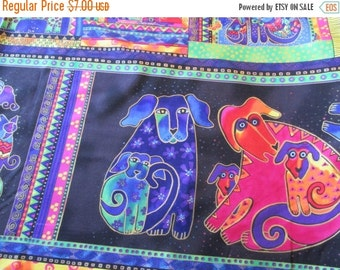 """Spring Sale NEW Quilting Weight Cotton Fabric Metallic Panel by Laurel Burch for Clothworks  1 panel 24"""""""