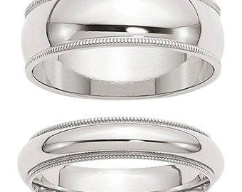 Special title Sterling Silver Couple Ring Set - Size 4