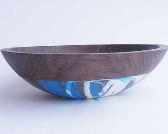 "12"" Walnut Serving Bowl, ICE limited line by Wind and Willow Home"