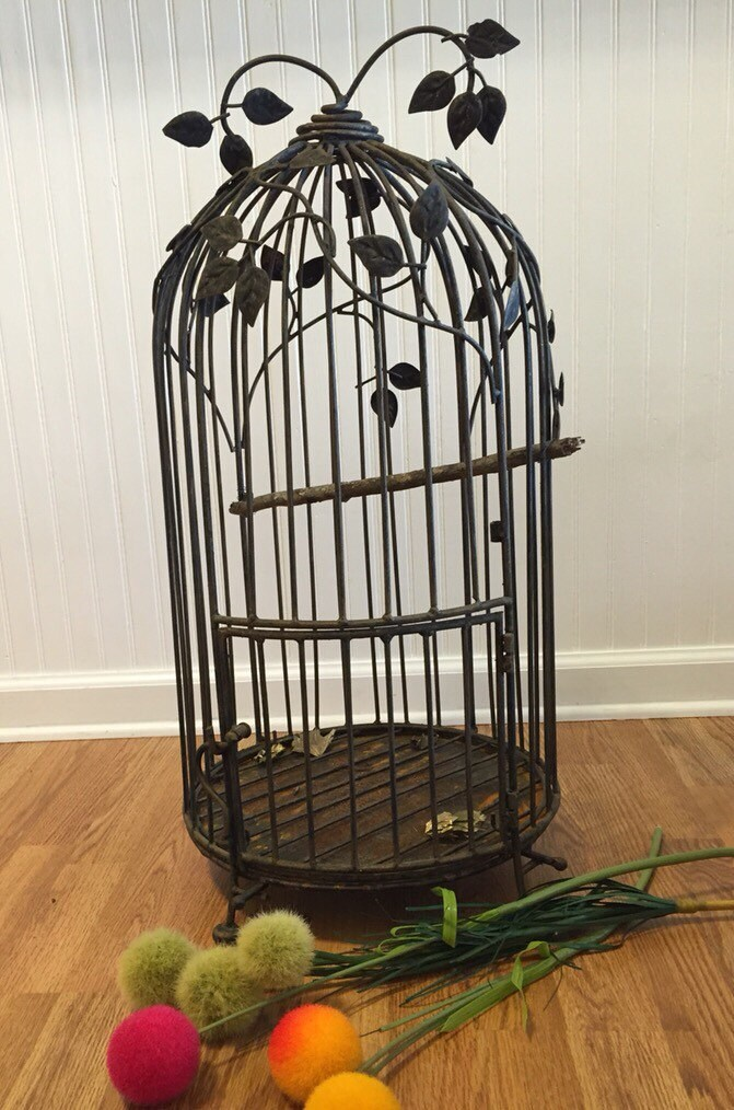 cast iron birdcage large birdcage vintage bird cage wedding. Black Bedroom Furniture Sets. Home Design Ideas