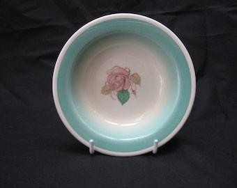 "Vtg Susie COOPER ""PATRICIA ROSE"" Green Crown Works Burslem Fruit Bowl"
