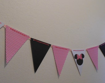 Minnie Mouse Birthday- Minnie Mouse Photo Banner- Minnie Mouse Photo Prop Banner