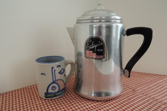 12 Cup Stove Top Percolator Aluminum Enterprise Coffee Pot