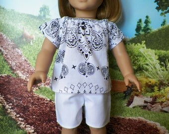 18 Inch Doll Top and Shorts