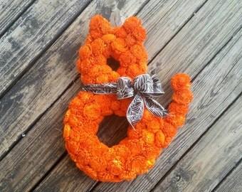 Halloween Wreath, Cat Wreath, Sale