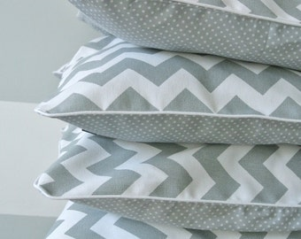 SALE: Decorative pillow cover, pillowcase, zig-zag, chevron