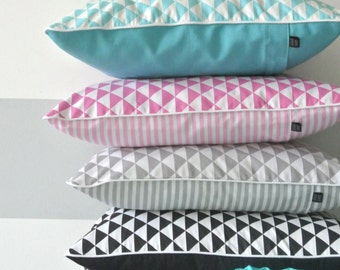 Scandi style pillow cover, cushion cover, traingle pattern, differents colors
