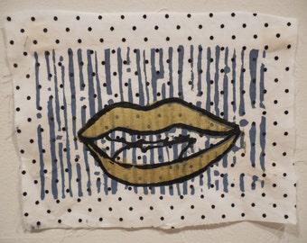 Screen Printed Patch - Golden Lip Stuff