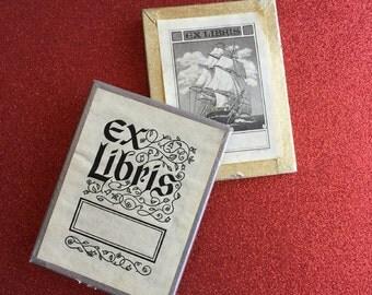 2 Boxes ~ Vintage Ex Libris Bookplates, Book Labels