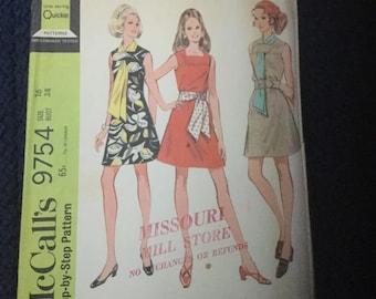 McCalls 9754 Dress Pattern