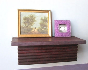 Wall Shelf - Small Wall Shelf - Wood Shelf  - Trim Wood Shelf - Recycled Wood Shelf -Stained Wood Shelf - Art Shelf